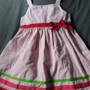 Girls pink Gymboree bow dress sz 5